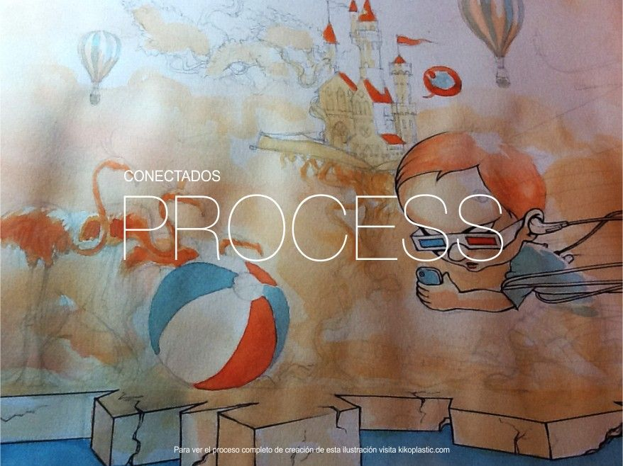 conectados: illustration process