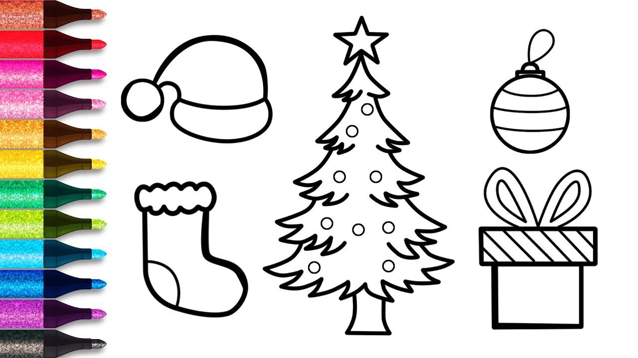 How To Draw Christmas Tree Glitter Christmas Tree Easy For Kids