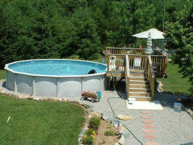 above ground pool deck plans bing images