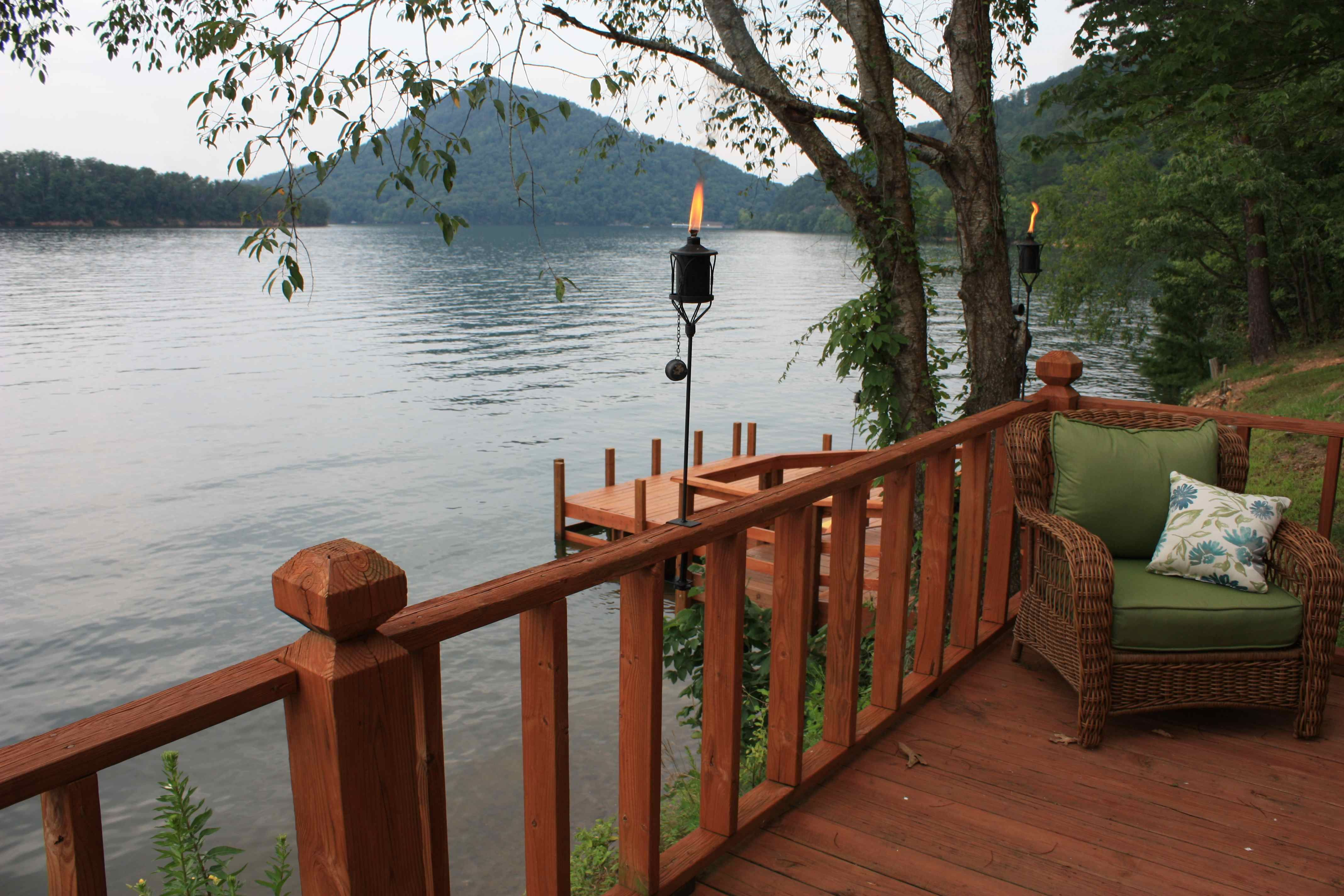 View Of Sugarloaf Mountain From Big Frog Cabin On Parksville Lake Also  Known As Lake Ocoee