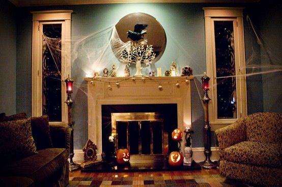 Fireplace Halloween decoration Halloween ideas Pinterest - halloween decoration ideas home