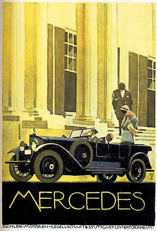 Mercedes Cars C 1922 Artist Ludwig Hohlwein 1874 1949 With Images Art Deco Posters Vintage Posters Art Deco Illustration