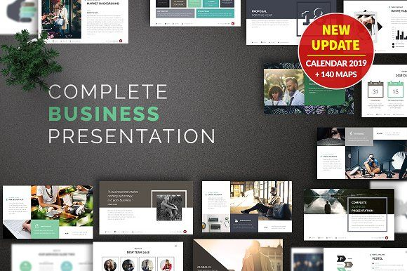 Business Powerpoint Template by Zacomic Studios on @creativemarket