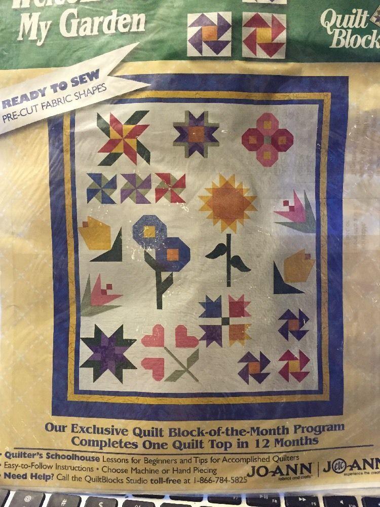 Welcome To My Garden Quilt Block Kit Month 5 Violet Joann Fabric ... : joann fabrics quilt kits - Adamdwight.com