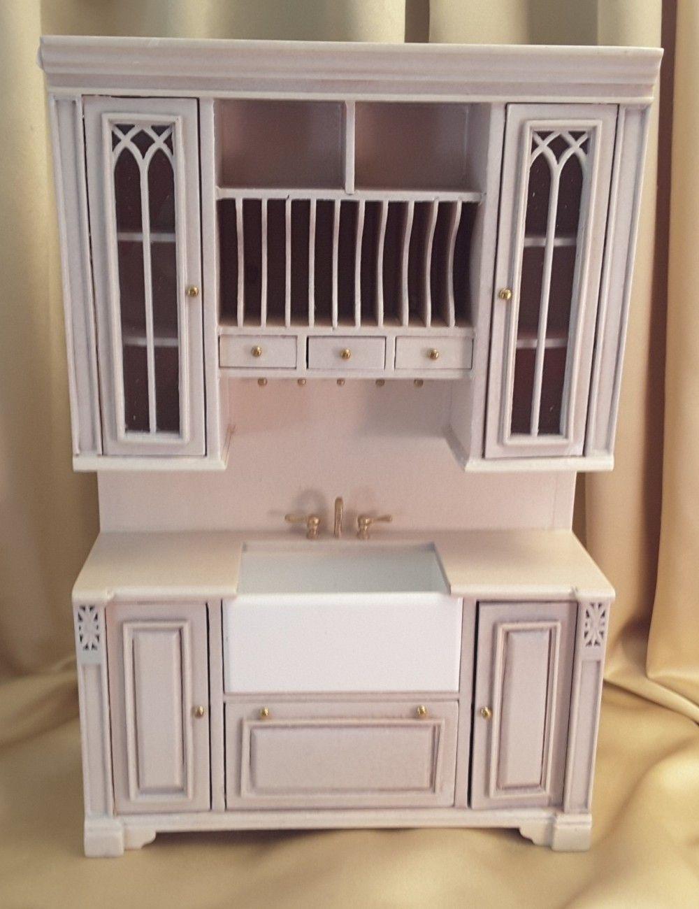 Cambridge manor kitchen white wash finish mini kitchens
