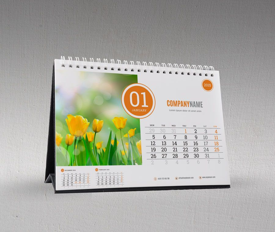 Desk table calendar 2016 design template KB210-W11-4 … | Pinteres…