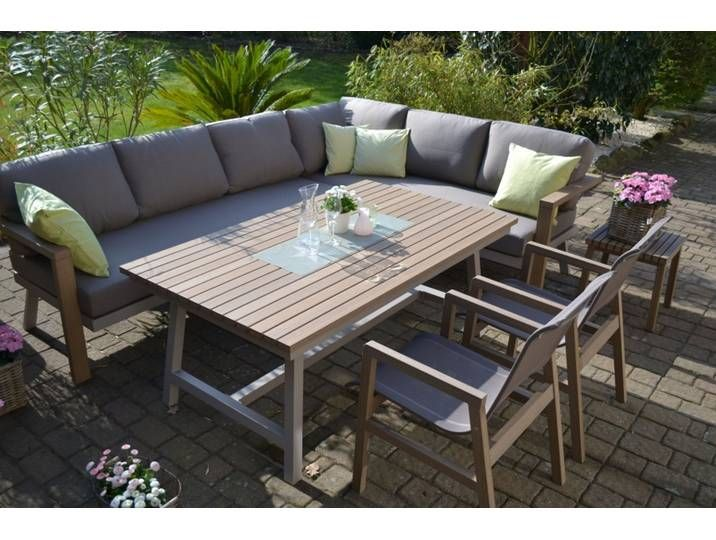 Enviro Wood Ecklounge 2 Stuhle Tisch Mailand In 2020 Lounge Mobel Terassenmobel Holz Garten Lounge