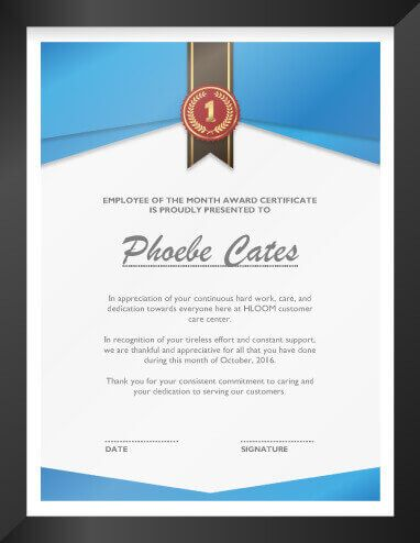 Right To Employment Certificate Design Free Templates Of Recognition Template Award