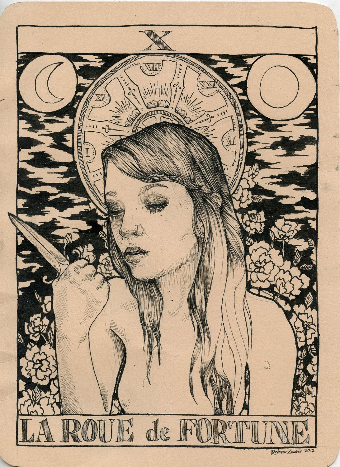 Wheel Of Fortune Tarot Card DRAWING. SoftAnatomies