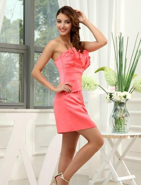 698c91faa4a ihomecoming.com SUPPLIES Elegant Concise Sexy Strapless Zipper-Up Column  Short Homecoming Dress Elegant (2)