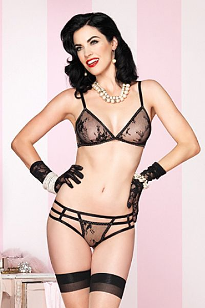 96d572247b1 Leg Avenue Burlesque Lingerie 81368 - 2 PC. Floral Lace Bra Top with  Matching Strappy Brazilian Panty  28.95