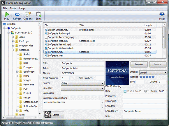 Stamp ID3 Tag Editor license - add information to your mp3