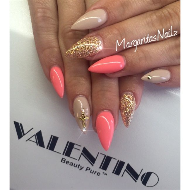 Nude Coral Caramel by Margaritanails via @nailartgallery #nailartgallery #nailart #nails #gel #geldesign #gelnails #gelnail