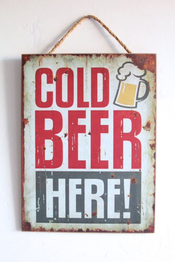 ICE COLD BEER ON TAP Metal Tin Signs Vintage Poster Home Pub Bar Wall Decor