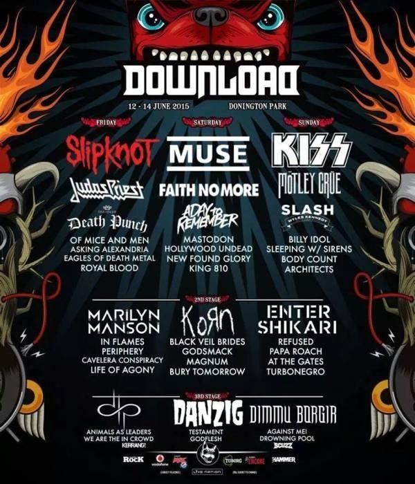 Download 2015 Donington Park Festival Festival Posters Tour Posters