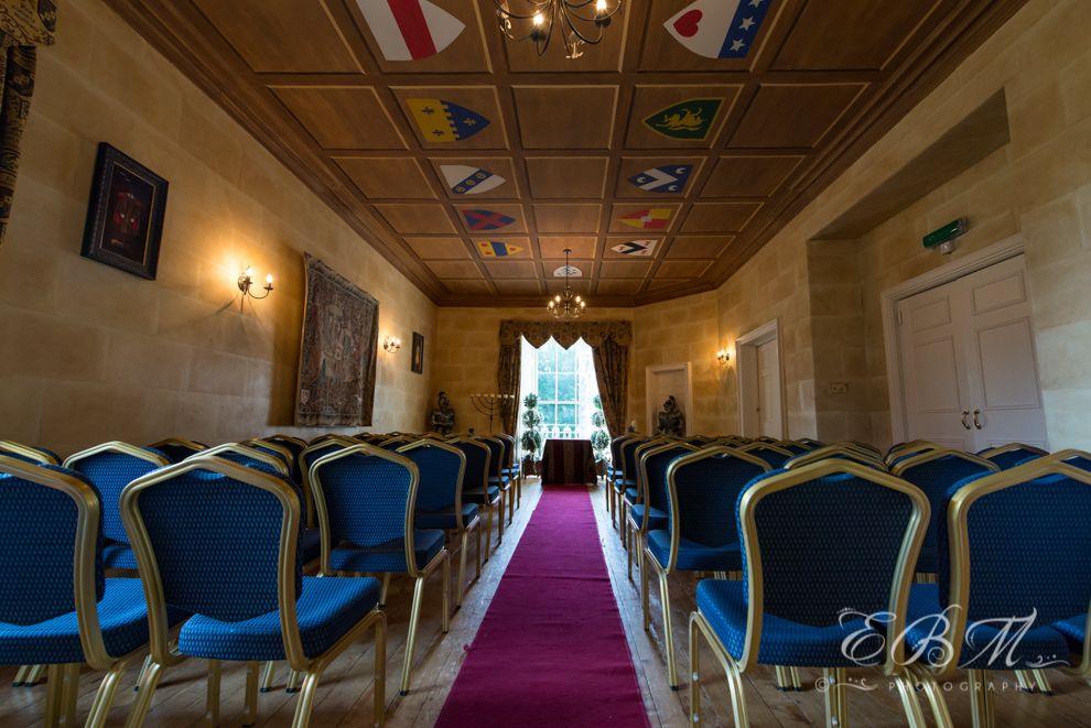 Fernie Castle Ceremony Room Fife Wedding Ebmphotography