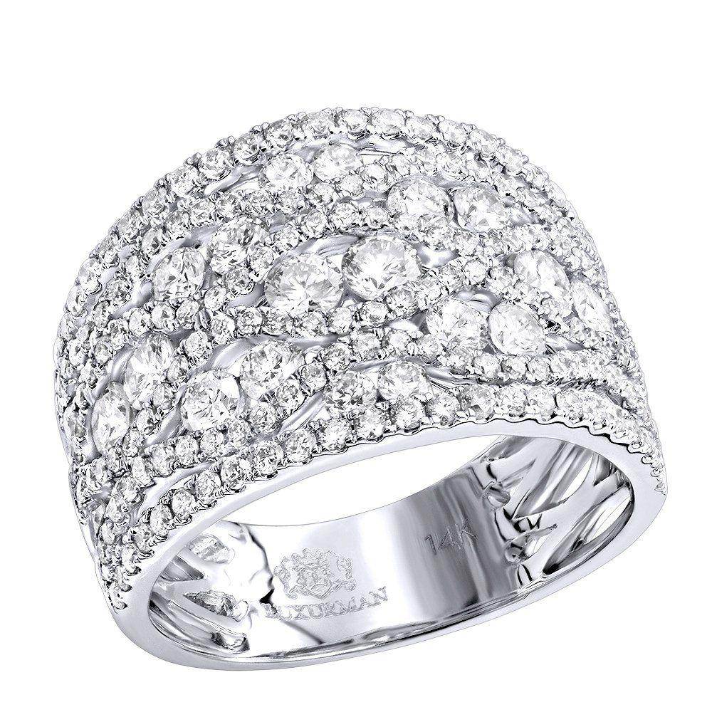 Designer Diamond Right Hand Ring For Women by Luxurman 14k Gold ...