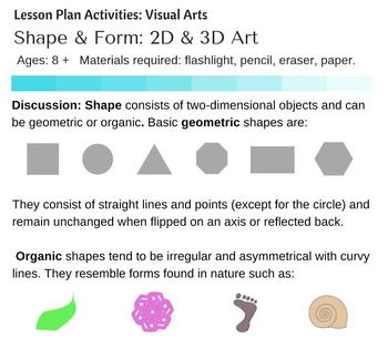 Shape Form Turning D Into D In Visual Arts Activities And - 8 step lesson plan template