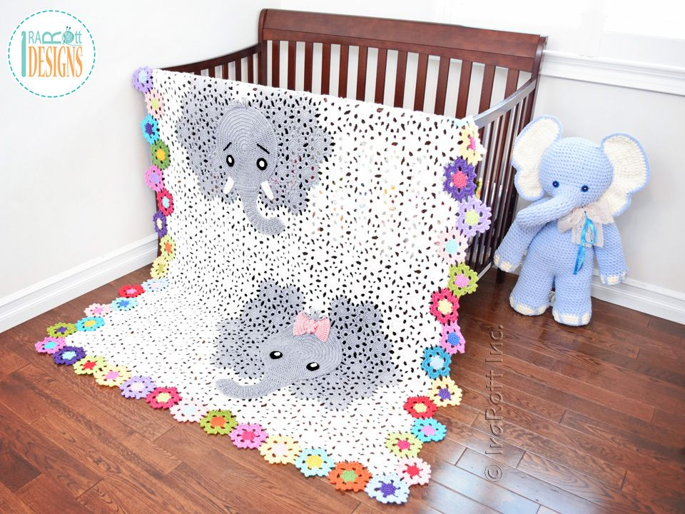 Josefina and Jeffery Elephant Blanket Crochet Pattern by IraRott ...