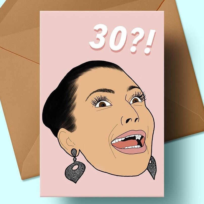 30th Birthday Card Kim Kardashian Inspired Kim K Shocked Face
