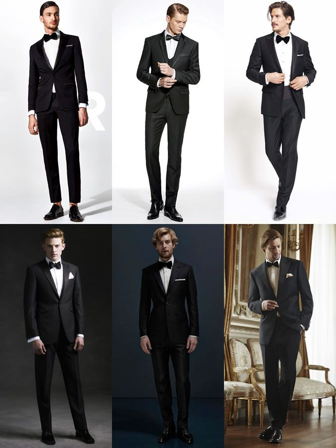 Men\u0027s Black Suits With Formal Bow Ties Outfit Inspiration