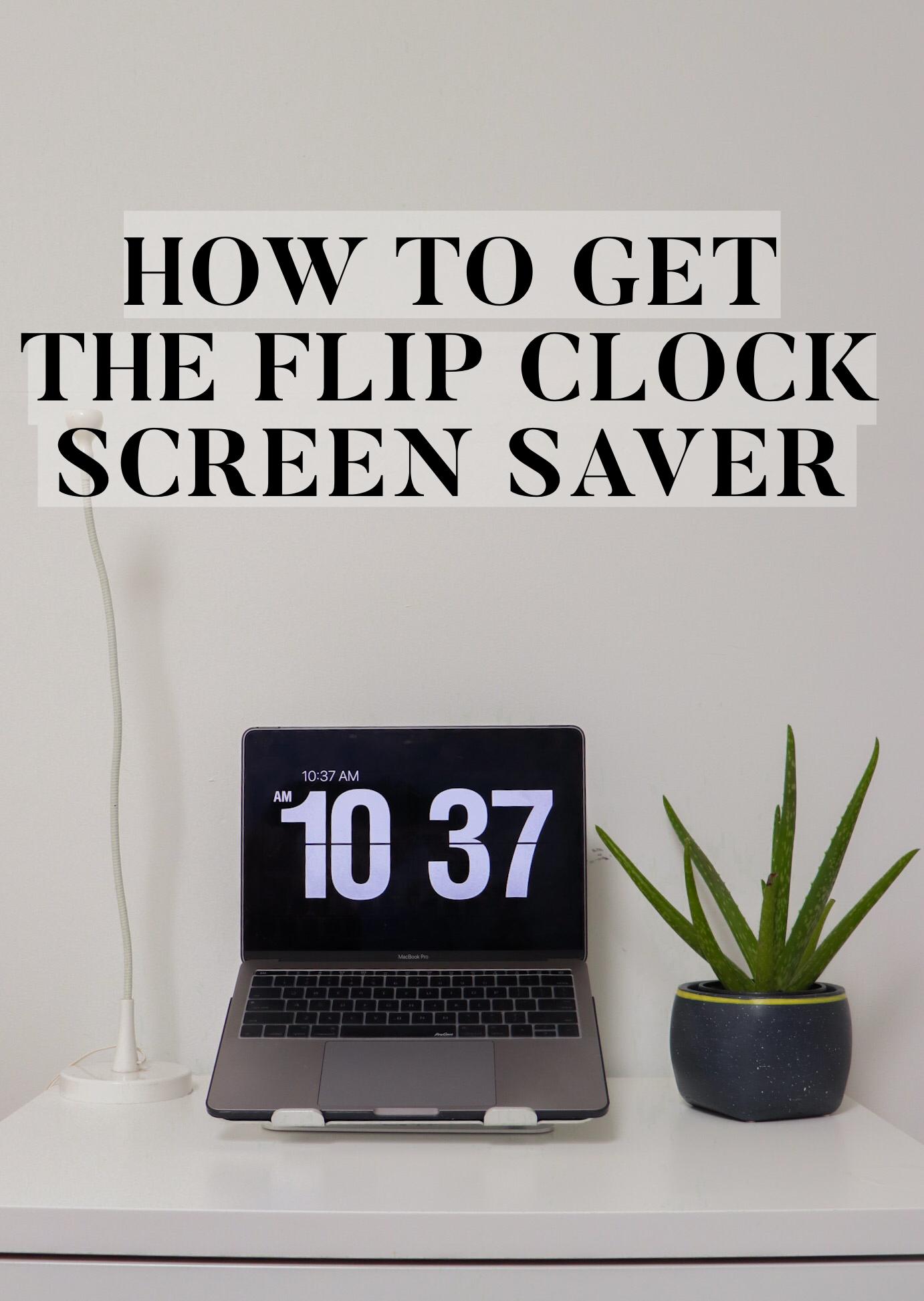 How To Get Flip Clock Screensaver On Macbook Air