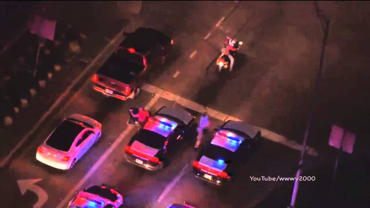 Texas High Speed Police Chase Stolen Motorcycle GTA Suspect (WFAA)