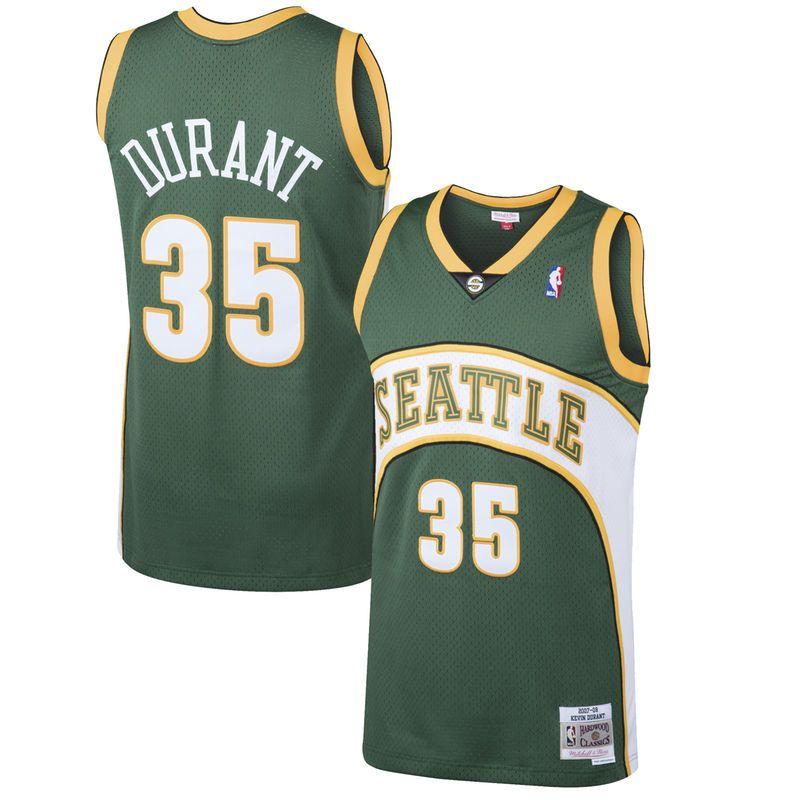 1aab1c4f Kevin Durant Seattle SuperSonics Mitchell & Ness 2007-08 Hardwood Classics  Swingman Jersey - Green