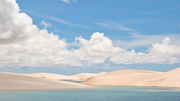 Visit Lençóis Maranhenses, a 600-square-mile national park in northeastern Brazil.