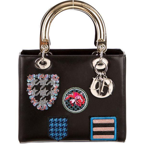 ed746120fda9 Pre-owned Christian Dior Medium Badges Lady Dior ( 3