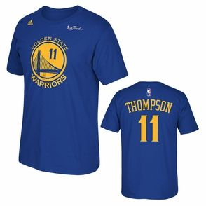 Golden State Warriors adidas The Finals Replica Tee - Klay Thompson - Royal