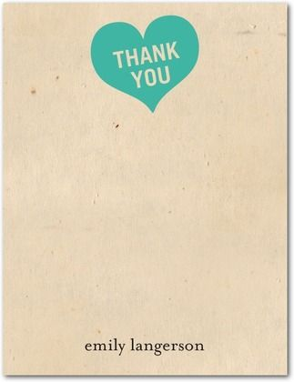 Thank You Cards Heartfelt Thanks Front Bright Red Gift Ideas