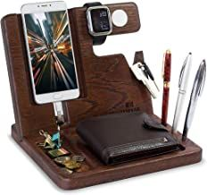 Wood Phone Docking Station Oak Key Holder Wallet Stand Watch Organizer Men Gift …