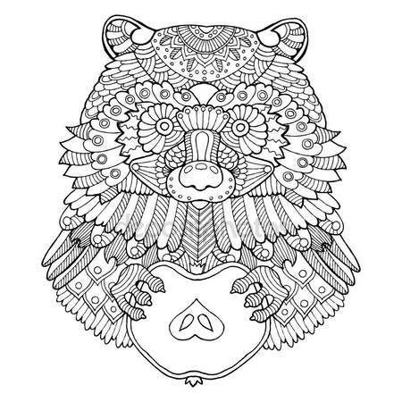 Ilustración de vector de mapache para colorear libro — Vector de ...