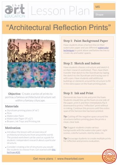 Architectural Reflection Prints: Free Lesson Plan Download ...