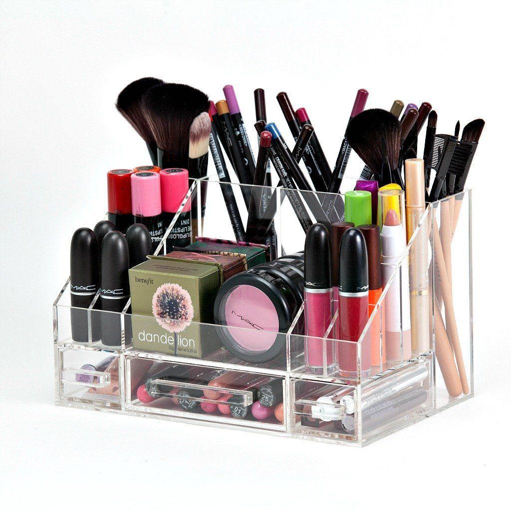 Arya Makeup Organizer Storage Modular Tray Clear acrylic