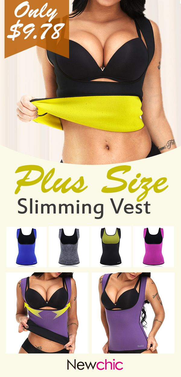 5e2b00461e2 Plus Size Neoprene Tummy Control Sports Burn Fat Push Busty Slimming Vest  For Daily Outfits Dating  shapewear  tummy  control  sports  busty