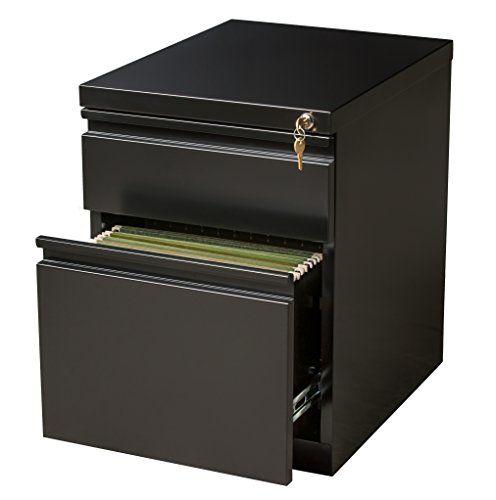 Office Dimensions Mobile Pedestal Box File 20 Inch Deep Black
