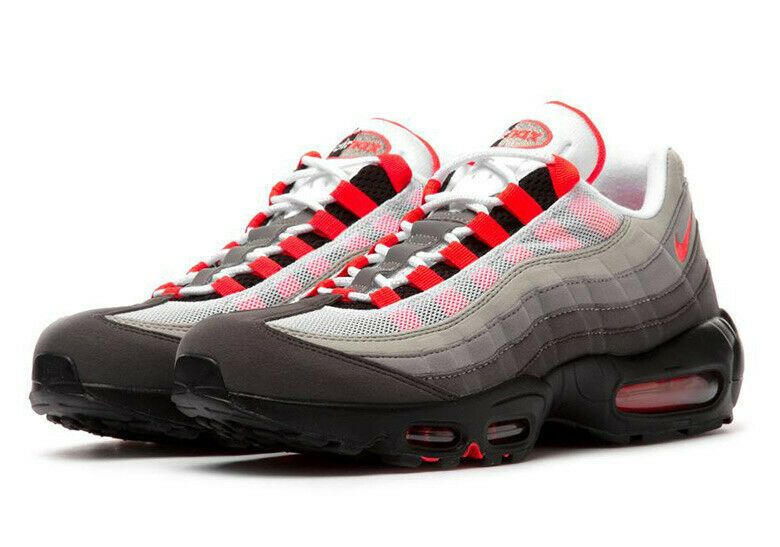 brand new a885b c1733 eBay Sponsored) Nike Air Max 95 OG White Solar Red Granite ...