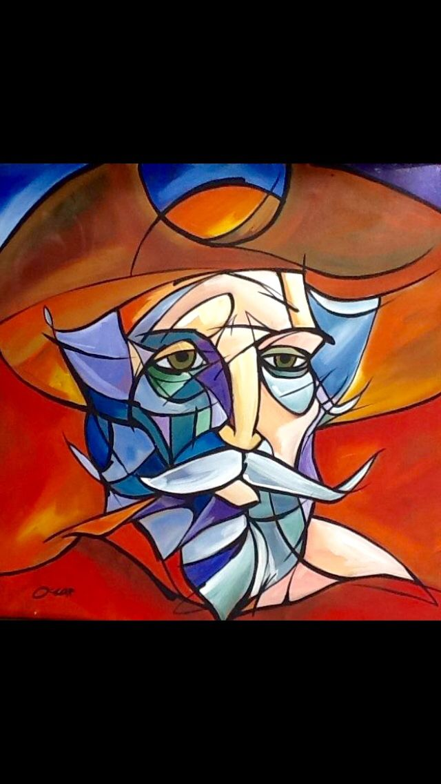 Don Quijote Art Pintura De Arte Abstracto Don Quijote Dibujo