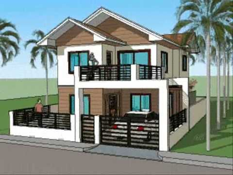 Decoration the beauty simple house designs with a black for Very simple home design