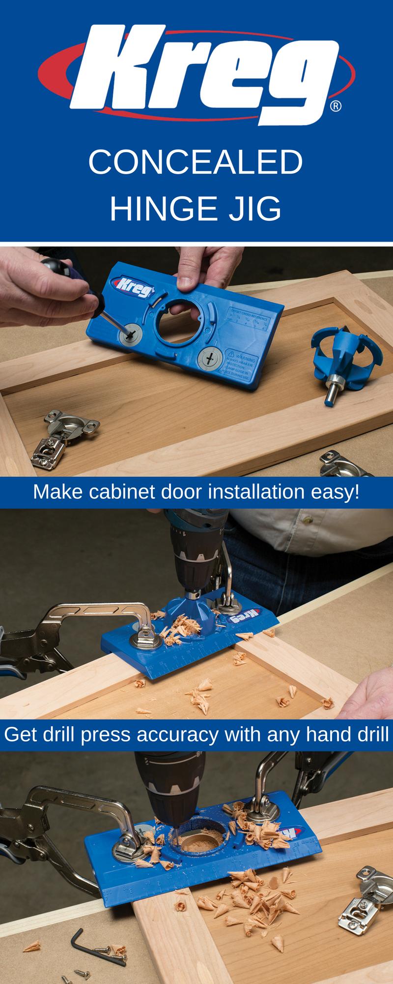 Concealed Hinge Jig Concealed Hinges Installing Cabinets Woodworking