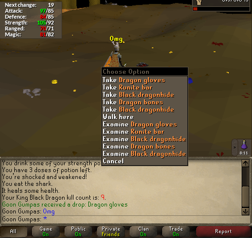 Not as rare as Barrows gloves but I'm still proud (9 KC