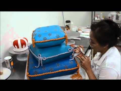 cf94dfa1440 Step by Step designing Pillow cake - How to Make Princess Pillow Cake