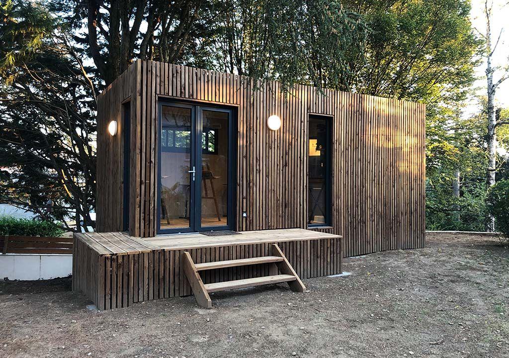 Studio De Jardin Greenkub De 20m2 Chalet De Jardin Habitable Studio De Jardin Bureau De Jardin
