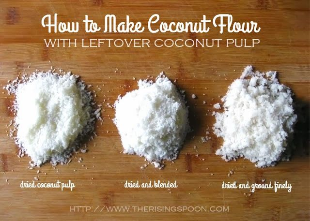 How To Make Coconut Flour From Leftover Coconut Pulp Coconut Flour Coconut Flour Recipes Coconut Pulp Recipes
