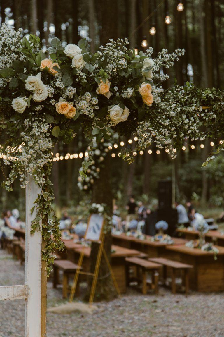 Forest Wedding Of Selvia Arthur At Gunung Pancar Bogor In 2020 Forest Wedding Ceremony Forest Wedding Wedding Ceremony Flowers