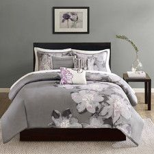 Gray & Silver All Bedding | Wayfair