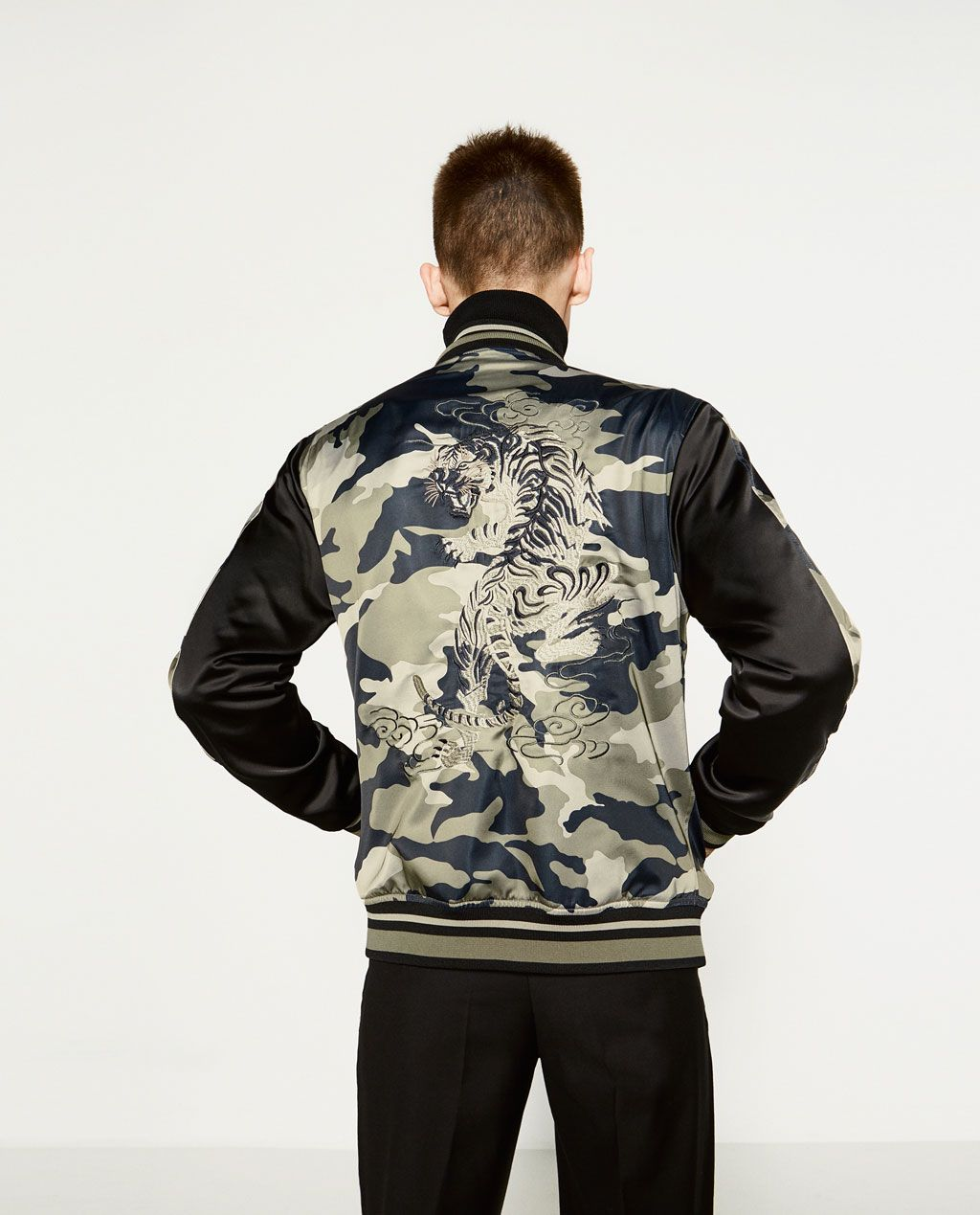 3034454b2cd4 Image 1 of TIGER BOMBER JACKET from Zara   Style   Vintage inspired ...