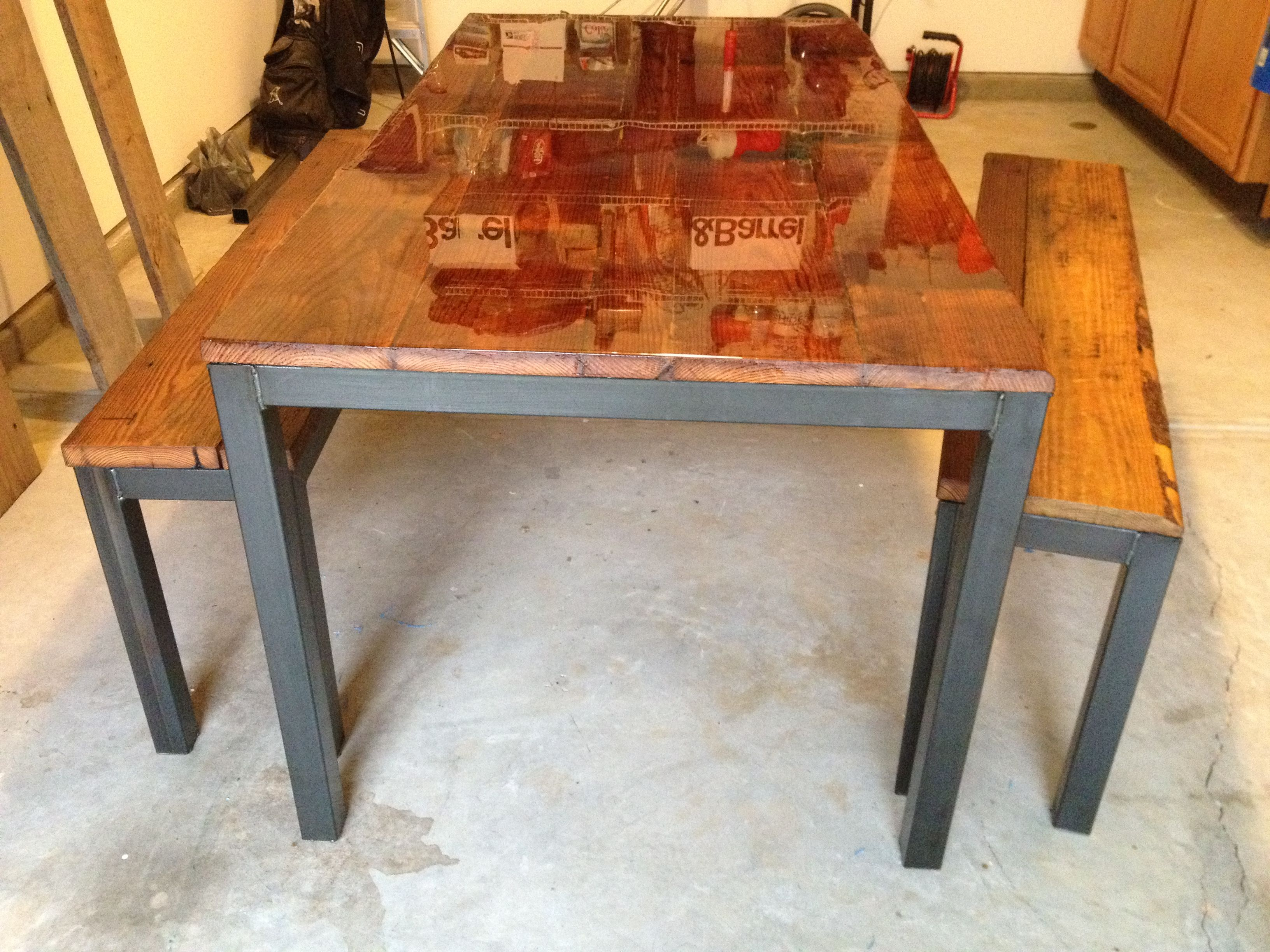 Metal And Wood Kitchen Table Great Metal And Wood Dining Table Metal Wood Dining Table On